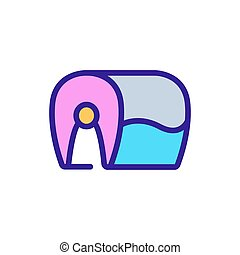 huge piece of fish icon vector outline illustration