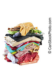 Huge pile of bed-clothes #3   Isolated