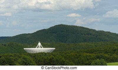 huge radio telescope valley time