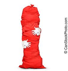 Huge red bag