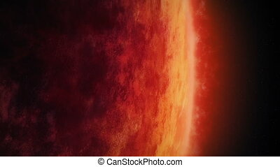 Huge Red Planet With Raging Atmosphere - Enormous red planet...
