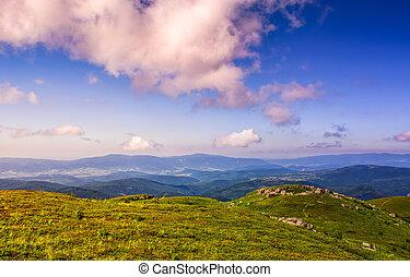 huge rocks on top of mountain ridge - mountain summer...