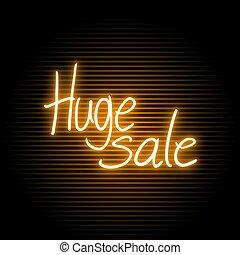 huge sale message