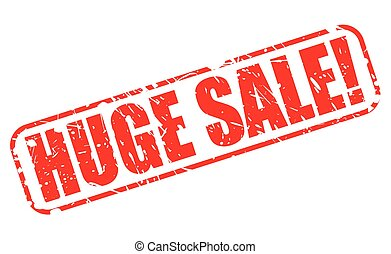 HUGE SALE RED STAMP TEXT