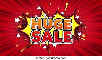 Huge Sale Text Pop Art Style Comic Expression. - Huge Sale...