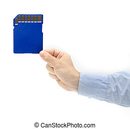 Huge sd card storage in a hand - Huge portable storage space...