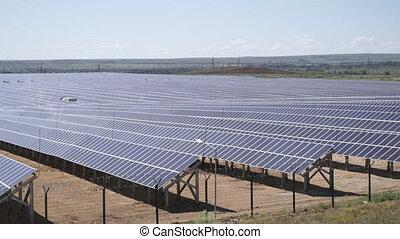 Huge solar power station.