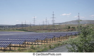 Huge solar power station.
