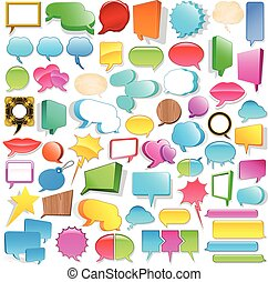 Huge speech bubble collection - Huge blank 3d speech bubble...