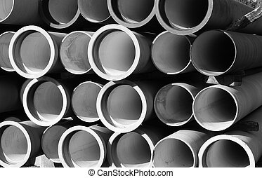tubes for waterworks and sewer system of the city - huge...