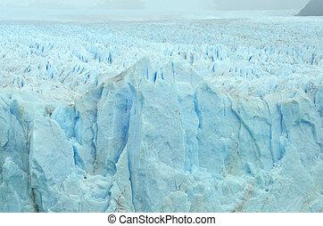 Huge view from the patagonian glacier called Perito Moreno