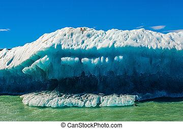 Huge white-blue iceberg