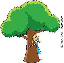 hugger, árbol