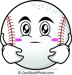 Hugging face baseball cartoon character