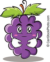 Hugging grape character cartoon collection