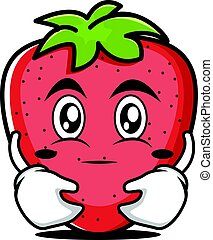 Hugging strawberry cartoon character collection