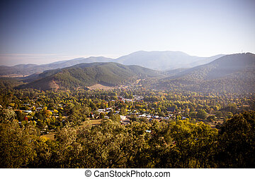 Huggins Lookout - The view from Huggins Lookout early on a...