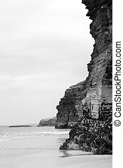 hugh cliffs on the irish coast - ancient cliffs on the...