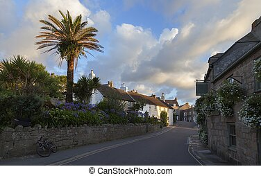 Hugh Town at dawn, St Mary's, Isles of Scilly, England