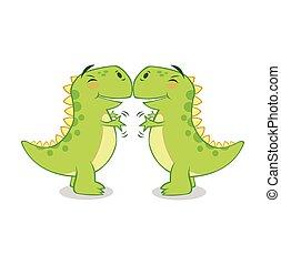 hug...so, becsuk, t-rex