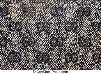 huid, textuur, met, geometrisch patroon