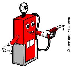 huile, essence, dessin animé