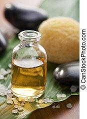 huile essentielle, et, pierres
