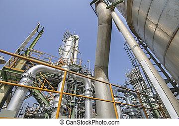 huile, et, chimique, usine industrielle