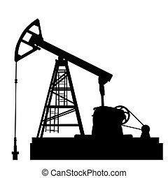 huile, illustration., industrie, equipment., pompe, vecteur, jack.