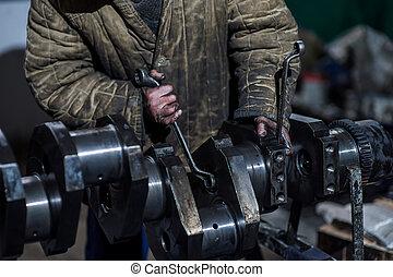 huile moteur, outils, fonctionnement, main