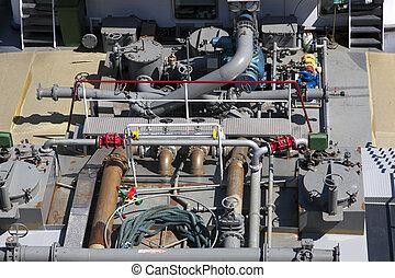 huile, pont, canaux transmission, haut fin, pétrolier