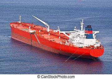huile, rouges, tanker.