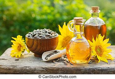huile, tournesol, fleurs
