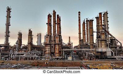 huile, usine, traitement