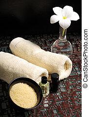 huiles essentielles, et, sels bain