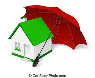 huis veiligheid, concept
