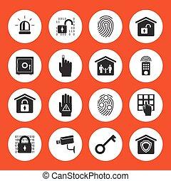 huis veiligheid, iconen