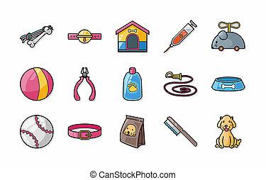 huisdieren, iconen, set