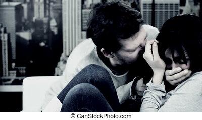 huiselijk geweld, man, aanval, vrouw