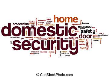 huiselijk, veiligheid, woord, wolk