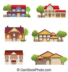 huisen, gevarieerd