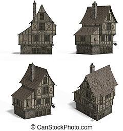 huisen, -, middeleeuws, bar