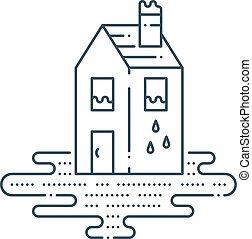 huishouding, pijp, lekkend, loodgieterswerk, herstelling