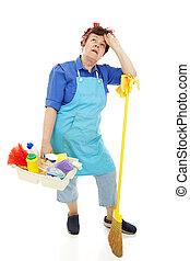 huishoudster, ongelukkig