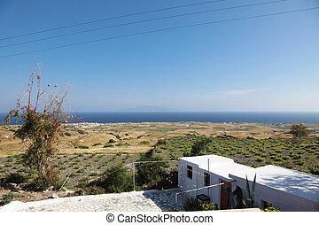 huisje, zomer, griekenland