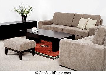 huiskamer, modern meubilair