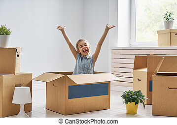 huisvesting, concept, gezin