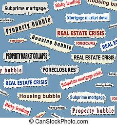 huisvesting, crisis, markt