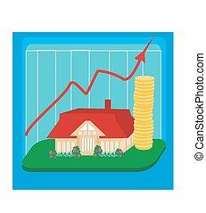 huisvesting, veranderlijk, markt