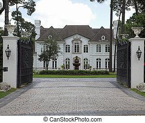 huizen, miljoen, dollar, reeks